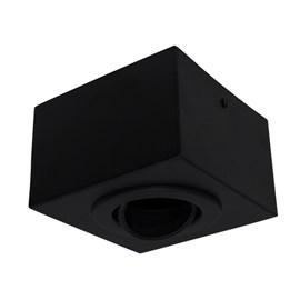 Plafon Box Quadrado 12cm Dicróica Preto Bonin
