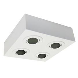 Plafon Box Quadrado 22cm 4 Lâmpadas Dicróica Branco Bivolt Bonin