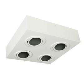 Plafon Box Quadrado 28cm 4 Lâmpadas PAR20 Branco Bivolt Bonin