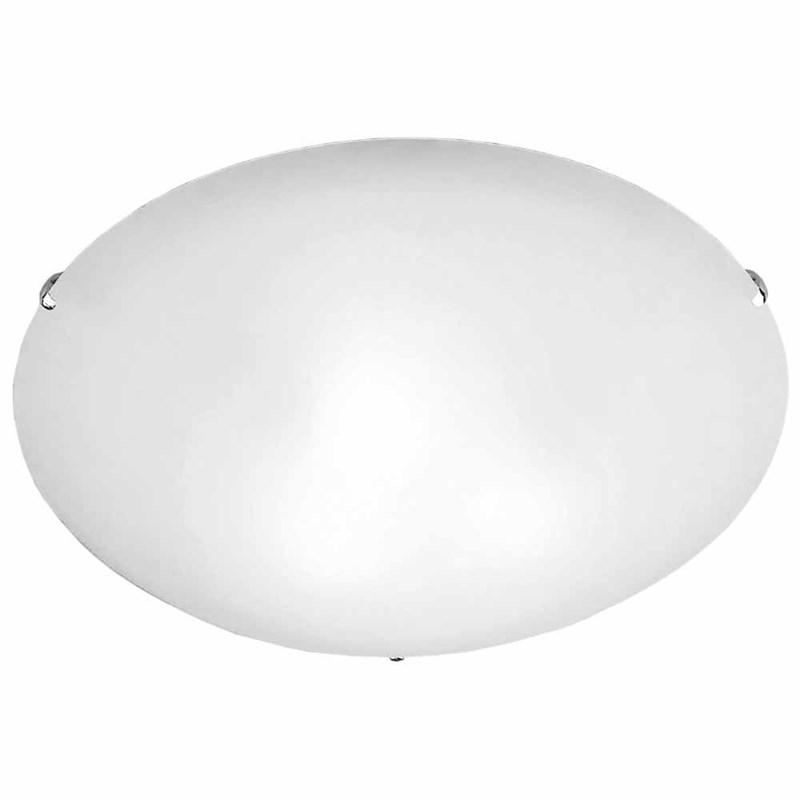 Plafon Clean Pequeno Branco Bronzearte