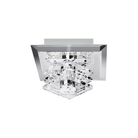 Plafon Inbojon Vidro Transparente 18x18x13cm Luciin