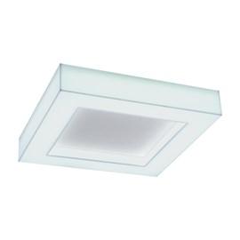 Plafon LED Aisha Branco Quadrado 55W Luz Neutra 110V Bella Italia