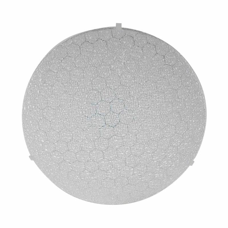 Plafon LED Colméia Redondo Transparente 20W Luz Branco Frio 127V Bronzearte