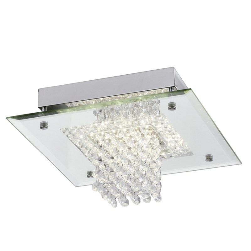 Plafon LED Dijon Quadrado 28cm 12W Luz Branco Neutro Bivolt Quality