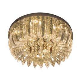 Plafon LED Greta Cristal Transparente 24W Redondo Luz Amarela Bivolt Startec