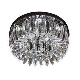 Plafon LED Greta Cristal Transparente 24W Redondo Luz Branca Bivolt Startec