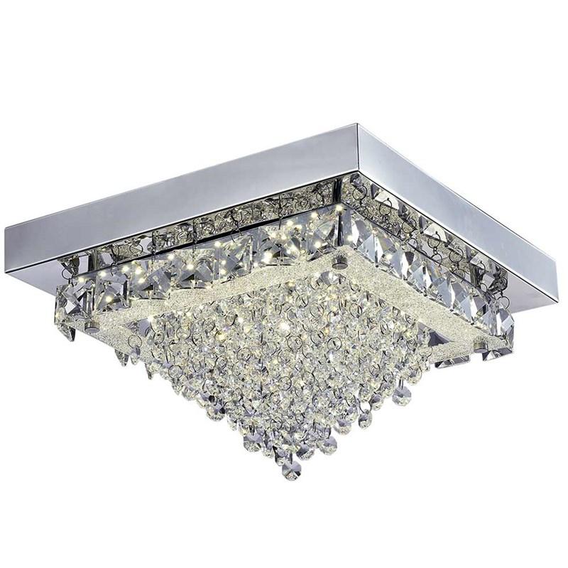 Plafon LED Madrid Quadrado 30cm 18W Luz Branco Neutro Bivolt Quality