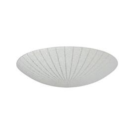 Plafon LED Margarida Redondo Transparente 25cm 10W Luz Branco Frio 127V Bronzearte