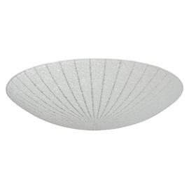 Plafon LED Margarida Redondo Transparente 30cm 20W Luz Branco Frio 127V Bronzearte