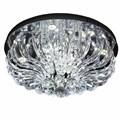 Plafon LED Marilyn Cristal Transparente 30W Redondo Luz Branca Bivolt Startec