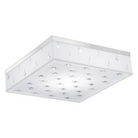 Plafon LED Renda Branco 30cm 20W Luz Branco Frio 127V Bronzearte