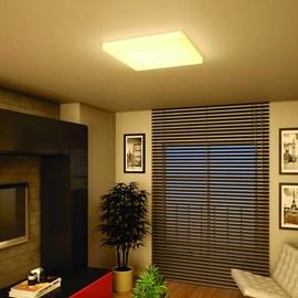 Plafon LED Slim Branco Quadrado 55W Luz Amarela 110V Bella Italia