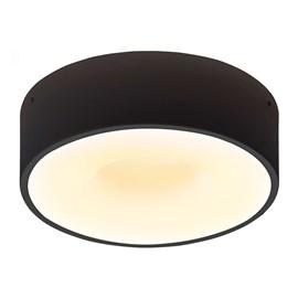 Plafon LED Sushi Redondo Preto 40cm 40W Luz Branco Quente Bivolt Taschibra