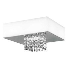 Plafon LED Vision Quadrado Branco 20W Luz Branca 127V Bronzearte