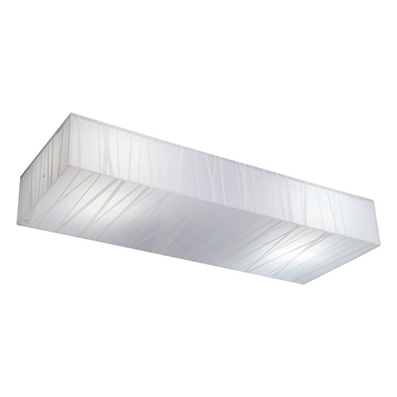 Plafon Plaza Fit Retangular 3 Lâmpadas Branco Startec