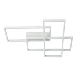 Plafon Quadrado Branco LED 56W Luz Branco Quente Arquitetizze