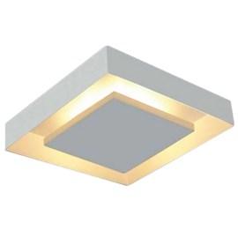 Plafon Rebatedor Eclipse de Sobrepor Quadrado Branco 4 Lâmpadas Itamonte