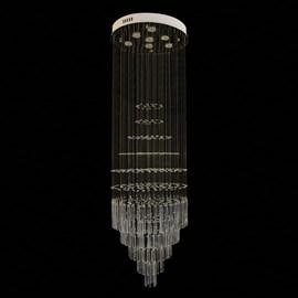 Plafon Redondo com Cubos de Cristal 7 Lâmpadas Cromado Eletrorastro