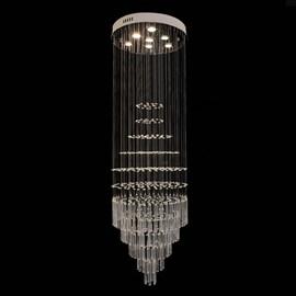 Plafon Redondo com Cubos de Cristal Eletrorastro