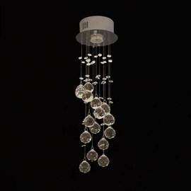 Plafon Redondo Espiral com Cristais 1 Lâmpada Eletrorastro