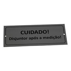 Plaqueta Alumínio Cuidado Disjuntor Apos Medicao Mrm Placas