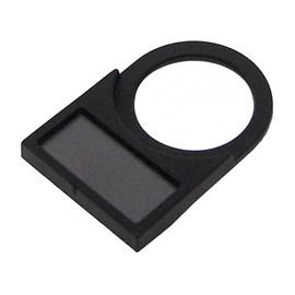 Plaqueta P20 Com Porta Etiqueta Para Botão 22mm Metaltex