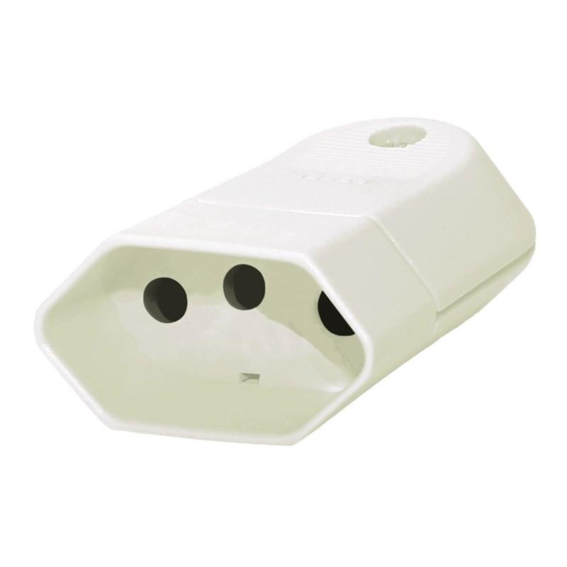 Plug 2P+T 20A Fêmea Branco Pezzi