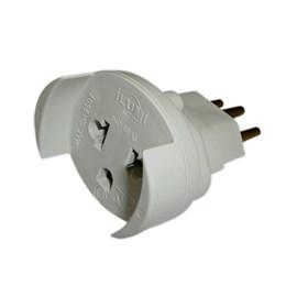 Plug Adaptador de Tomada 3P 10A para 2P+T Cinza Ilumi