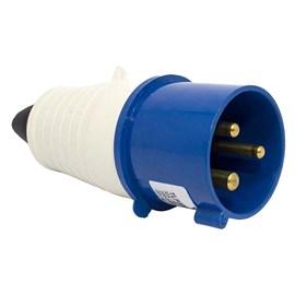 Plug Blindado 2 Pinos + Terra 32A 220V Azul Eletrorastro