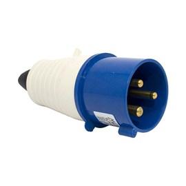 Plug Blindado 2P+T 32A 250V Azul Metaltex