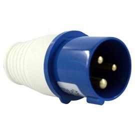 Plug Blindado 2P + Terra Azul 16A 220v Metaltex