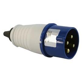 Plug Blindado 3 Pinos + Terra 32A 220V Azul Eletrorastro