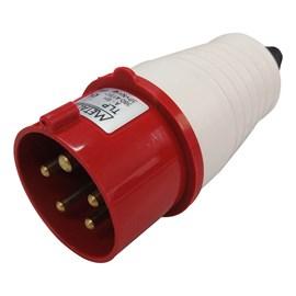 Plug Blindado 3P+N+T 32A 415V Vermelho Metaltex