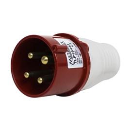 Plug Blindado 3P+T 16A 380V Vermelho Metaltex