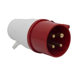 Plug Blindado 3P+T 16A 415V Vermelho Eletrorastro