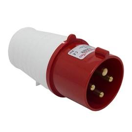 Plug Blindado 3P+T 32A 415V Vermelho Eletrorastro