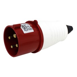Plug Blindado 3P+T 32A 415V Vermelho Metaltex