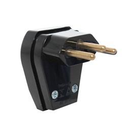Plug de Sobrepor 2P+T 10A Macho Preto Pezzi