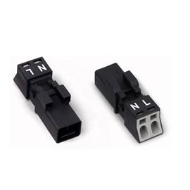 Plug Winsta 2 Pólos Macho/Femea 890-232/890-222 Wago