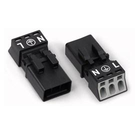 Plug Winsta 3 Pólos Macho/Femea 890-233/890-223 Wago