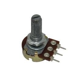 Potenciômetro Linear KB 16MM 100K OHMS Eixo L20 sem Chave Arsolcomp