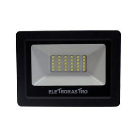 Refletor LED 20W Luz Branco Frio Bivolt Eletrorastro