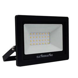 Refletor LED 30W Luz Amarela 127V Eletrorastro