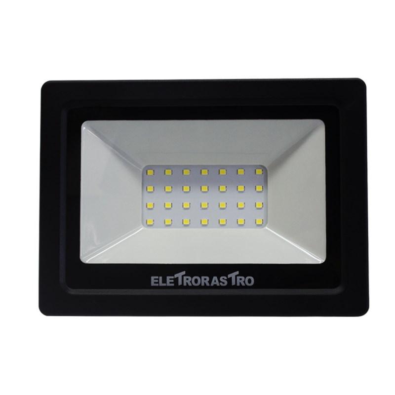 Refletor LED 30W Luz Branca 127V Eletrorastro