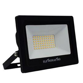 Refletor LED 50W Luz Amarela 127V Eletrorastro