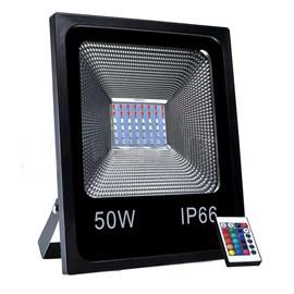 Refletor LED 50W RGB Bivolt Benluz