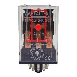 Relé De Comando 24VCC 10A 3 Reversíveis Metaltex