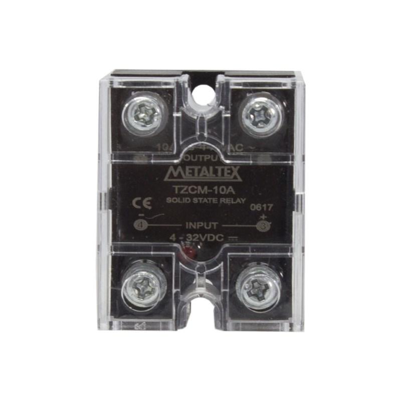 Relé de estado sólido miniatura TZCM-10A 380VCA 4-32VCC Metaltex