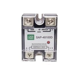 Relé de Estado Sólido SAP-48100D 100A 480VCA 3-32VCC Monofásico Digimec
