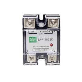 Relé de Estado Sólido SAP-4825D 25A 480VCA 3-32VCC Monofásico Digimec